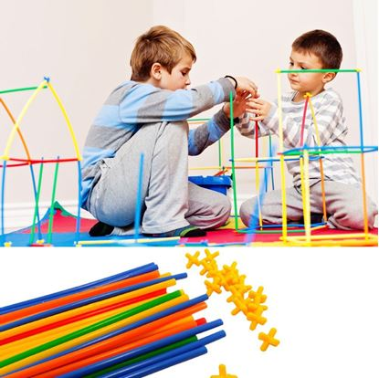 Obrázok Stavebnica - skladacie tyčky
