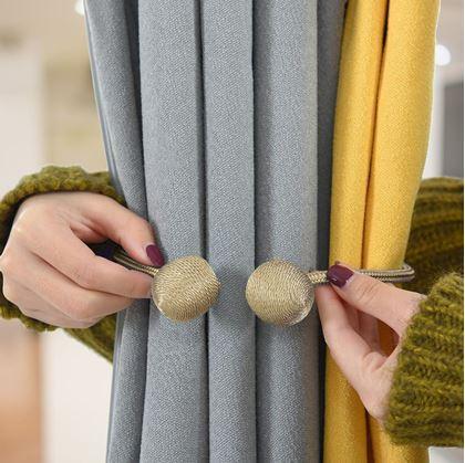 Obrázok z Magnetická spona na závesy - Magnetická spona na závěsy - béžová