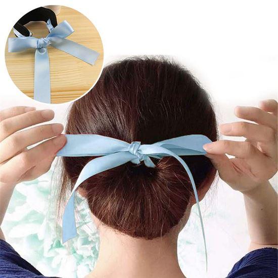 Obrázok z Klip do vlasov s mašľou - světlo modrý