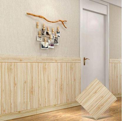 Obrázok 3D tapeta - světlé dřevo 10 ks