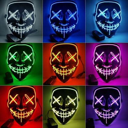 Obrázok z Strašidelná svietiaca maska - růžová