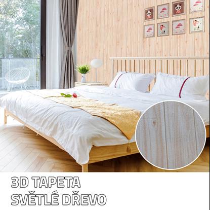 Obrázok 3D tapeta - světlé dřevo 5 ks