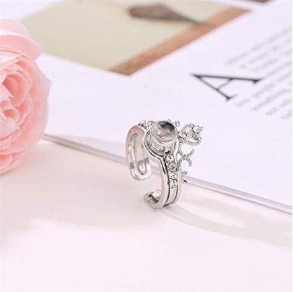 stříbrný prstýnek