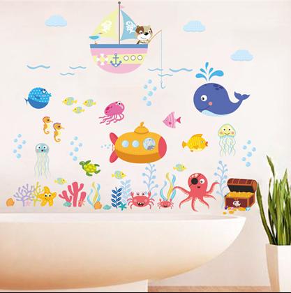 Samolepky na zeď - podmořský svět