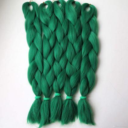 Obrázok z vlasový príčesok - zelený