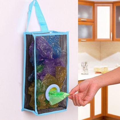 Obrázok z Zásobník na igelitové vrecúška - modrý
