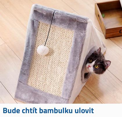 Škrabadlo s bambulkou na hraní