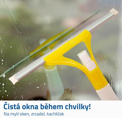 stěrka na okna s rozprašovačem