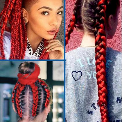 Obrázok z Vlasový príčesok - červený
