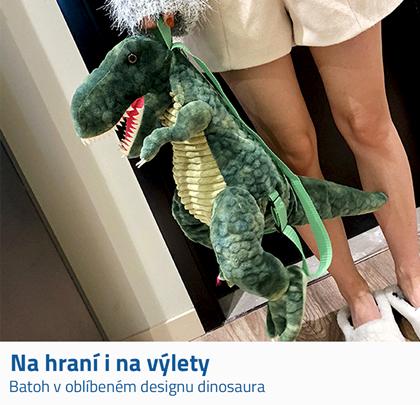 Batoh s dinosaurem