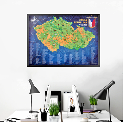 Stírací mapa ČR