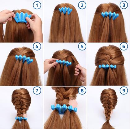 Pletení copů z vlasů