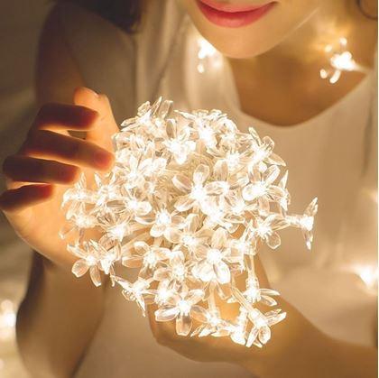 Obrázok z  LED svetelná reťaz - čerešňový kvet