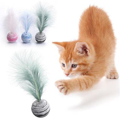 Obrázok z  Loptička pre mačky - pierko