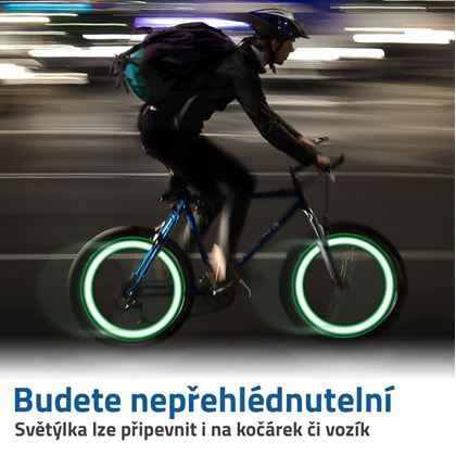 svítící vrtulka na kolo