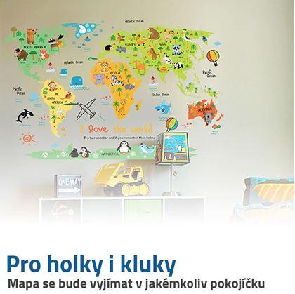 mapa světa pro děti