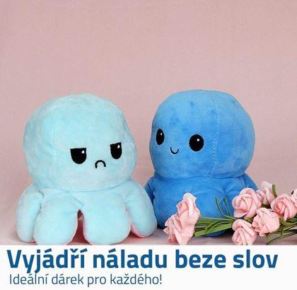 Obrázok z Obojstranná plyšová hračka - modrá/tyrkysová