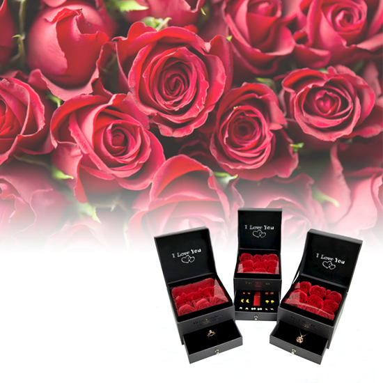 Šperkovnice s růžemi