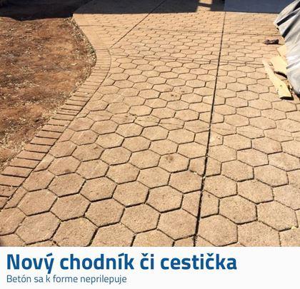 Forma na chodníky