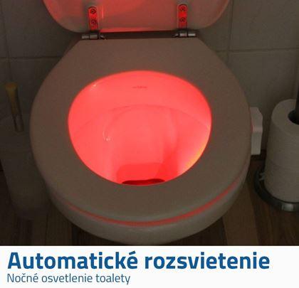 Automatické svetlo na wc