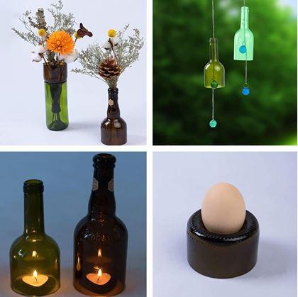 Dekorace z lahví