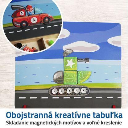 Dřevěná magnetická tabulka - dopravní prostředky