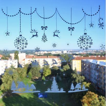 Vánoční okenní samolepky